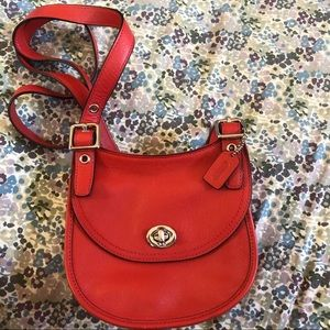 Coach leather cross-body purse